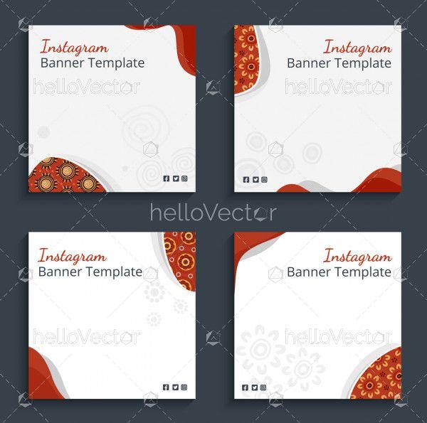 Editable Instagram banner templates