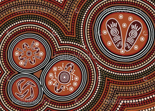 Dot art aboriginal style of background