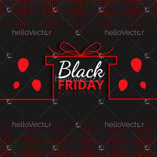 Gift Sale Minimal Black Friday Background
