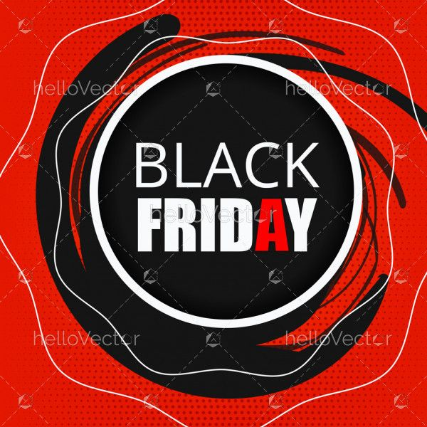 Abstract black Friday poster background