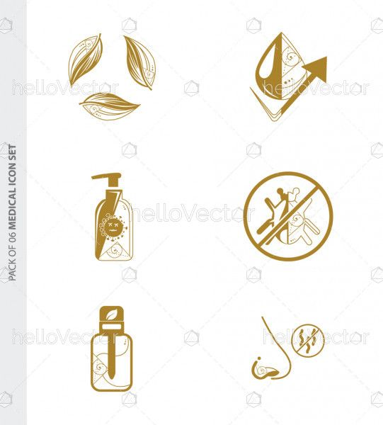 Trendy flat medical icon set