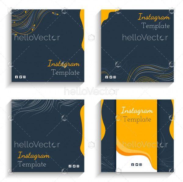 Blue Instagram Post Design