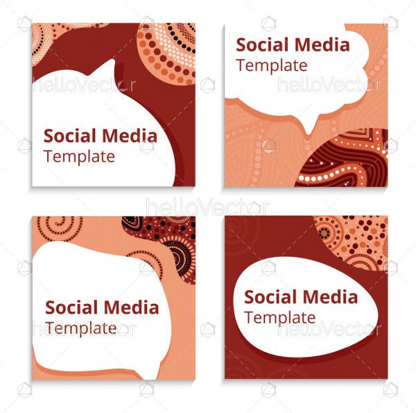 Stylish social media banner template with dot design