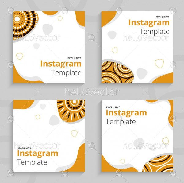 Yellow and white Instagram post template