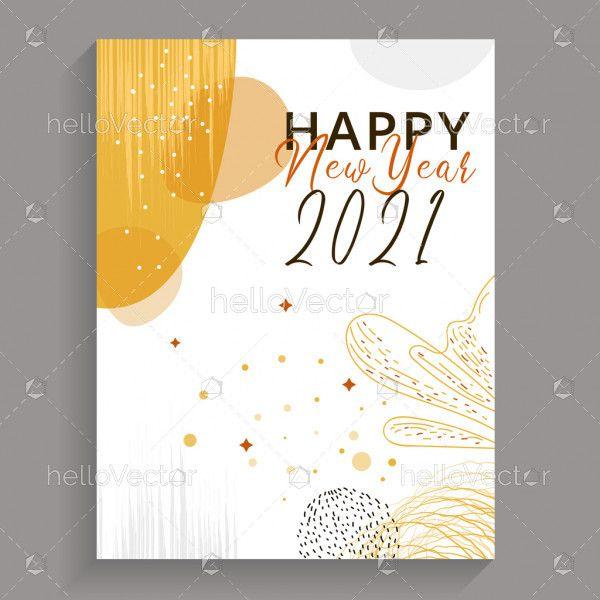 New year 2021 greeting card design