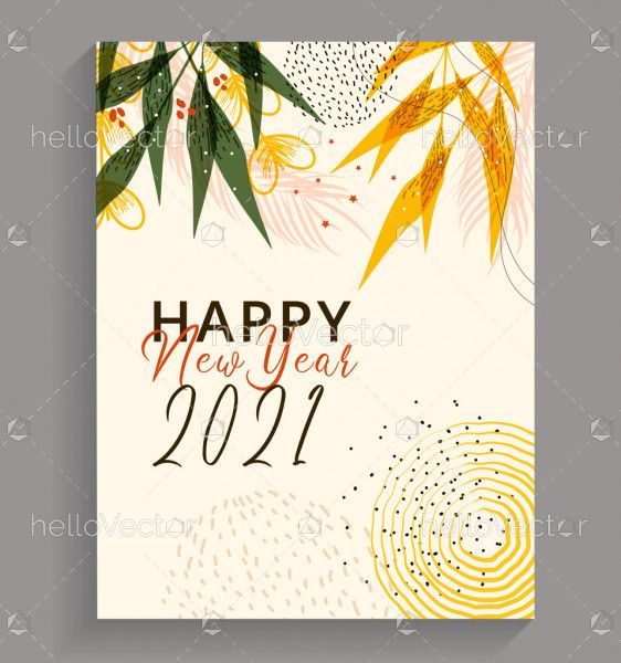 Abstract 2020 new year greeting card
