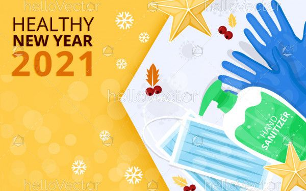 Healthy New Year 2021 Background