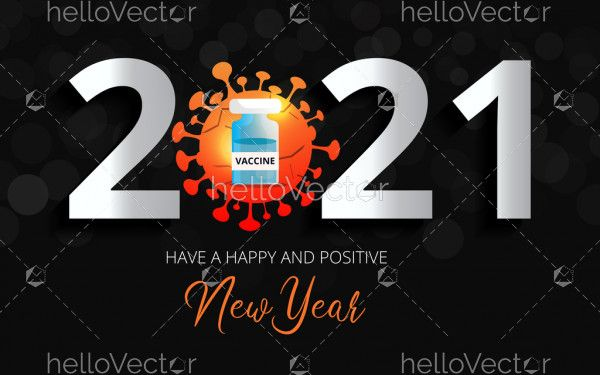Happy and safe new year 2021 background