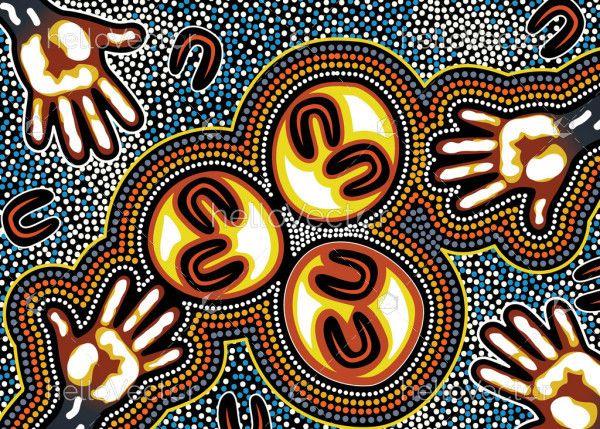 Unity Aboriginal Dot Background