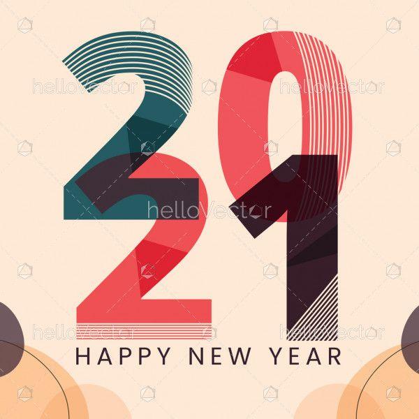 New year 2021 vector wallpaper