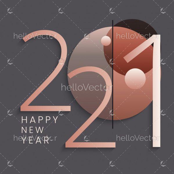 Minimalistic Happy New 2021 Year