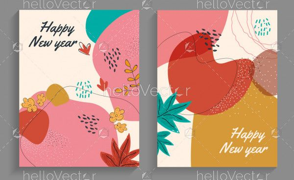Vector New Year Card Design set