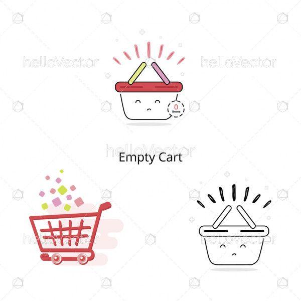 Empty cart icons
