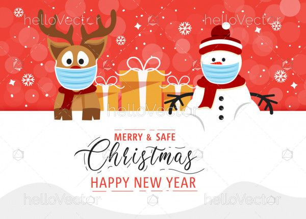 Merry and safe Christmas banner