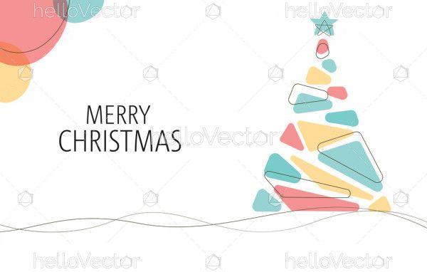 Minimalist Christmas Background Vector