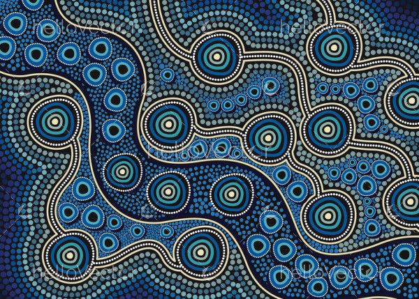 Blue aboriginal art