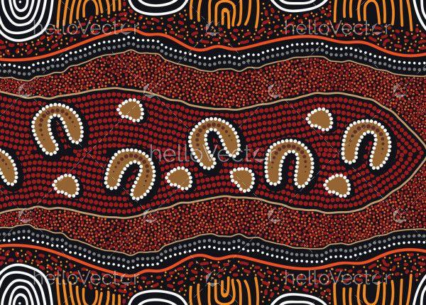 Illustration of aboriginal art