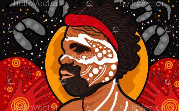 Aboriginal man painting