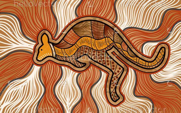 Aboriginal kangaroo painting