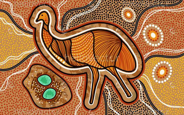 Emu Aboriginal Painting