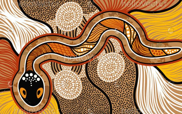 Snake Aboriginal Art