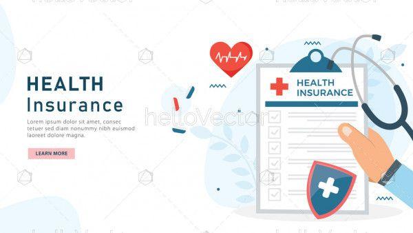 Health insurance concept illustration