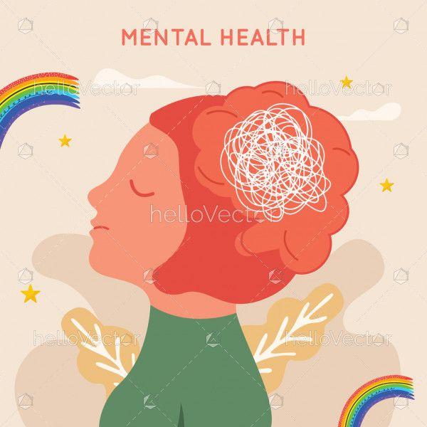 Women mental health illustration