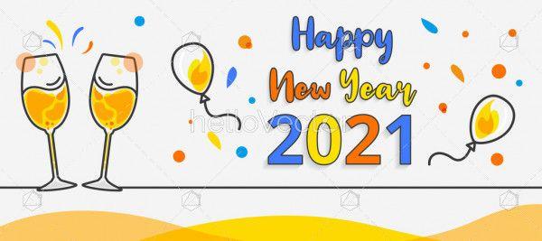 New year 2021 celebration background
