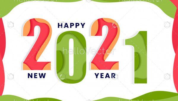New year 2021 vector