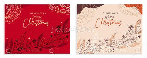 Merry Christmas card, minimalist design