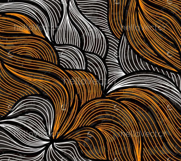 Abstract colorful wavy lines design