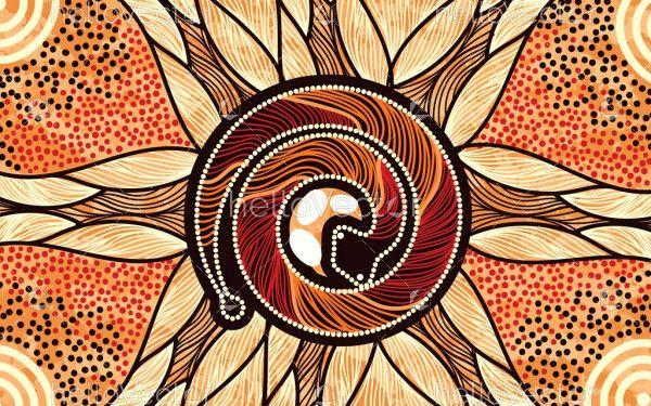 Snake Painting - Aboriginal
