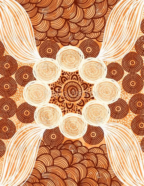 Aboriginal dot art background design
