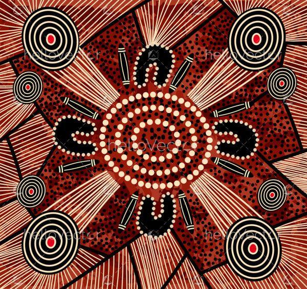Indigenous Art Background