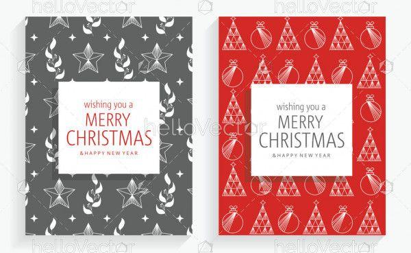 Merry Christmas Greeting Card Designs