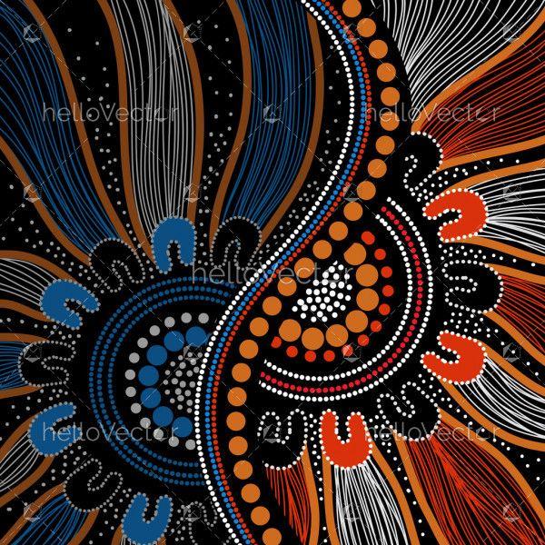 Aboriginal background design vector