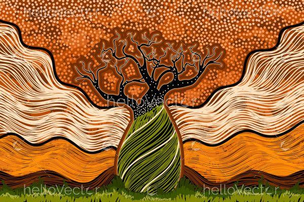 Boab Tree Art Aboriginal