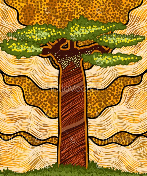 Boab Tree Painting