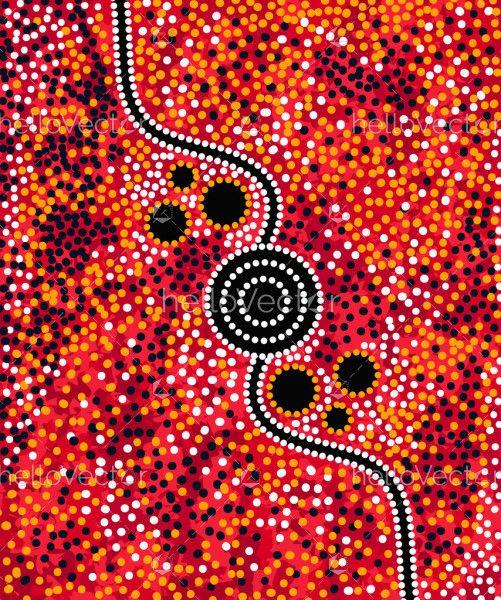Dot Background - Aboriginal