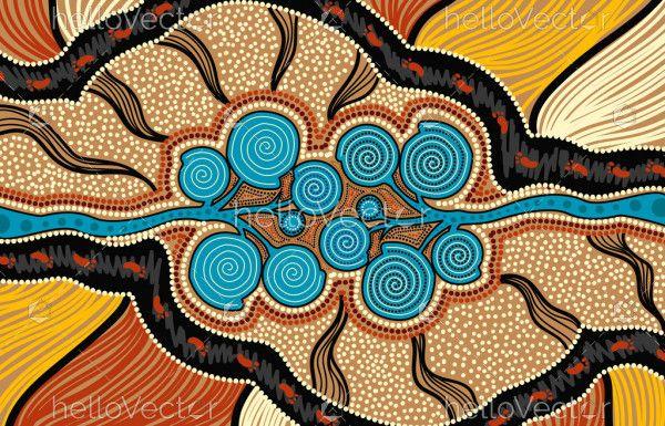 Nature Dot Art - Aboriginal