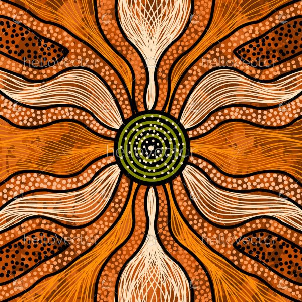 Aboriginal vector painting