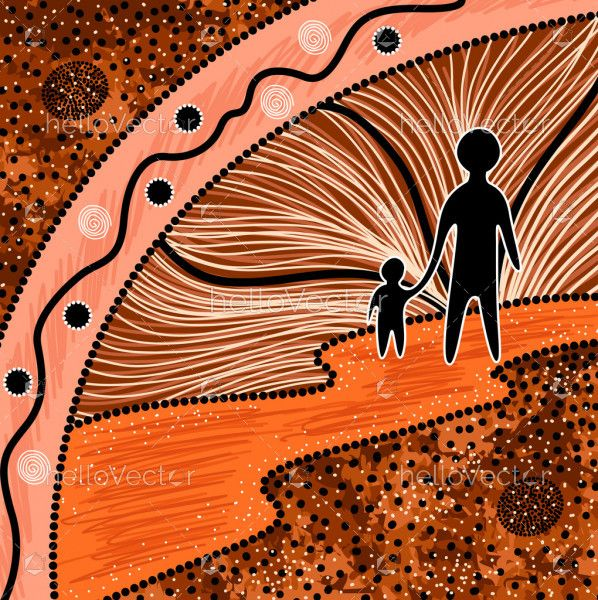 Father and son aboriginal art