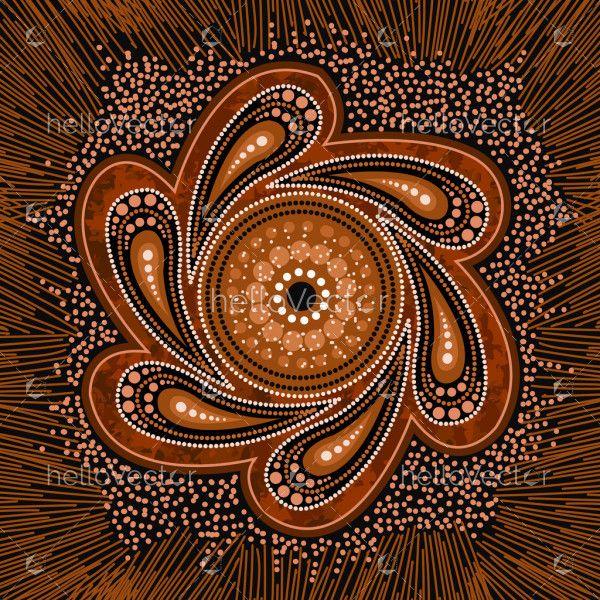 Brown aboriginal art background