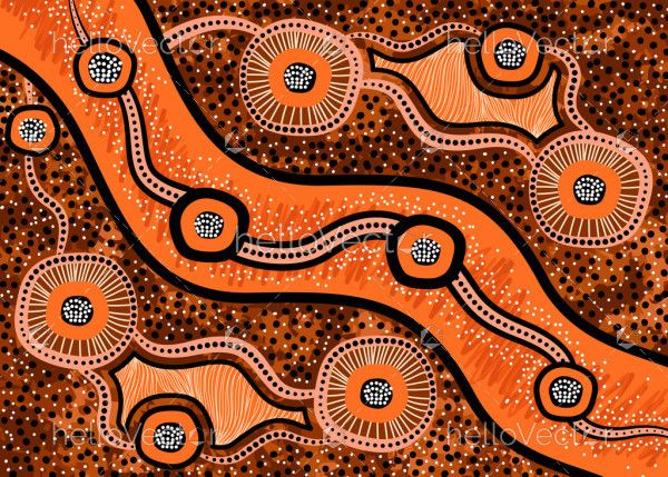 Australian aboriginal background