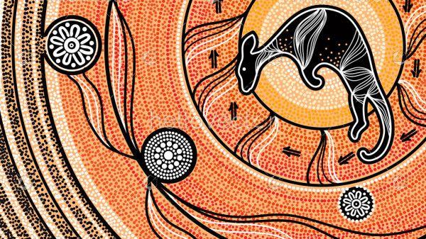 Aboriginal Kangaroo Background