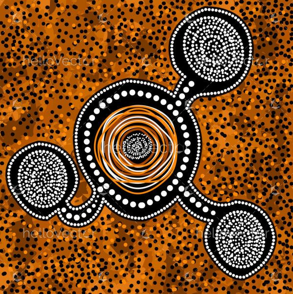 Aboriginal dot painting for wall decoration