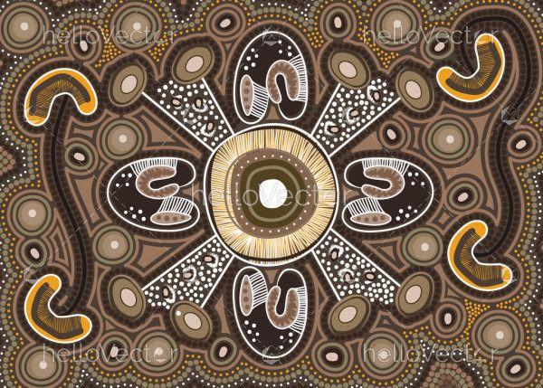 Australian aboriginal art vector