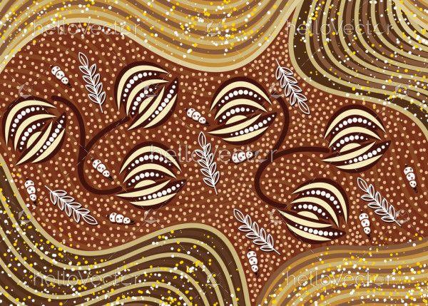 Vector Australian Aboriginal Dot Art