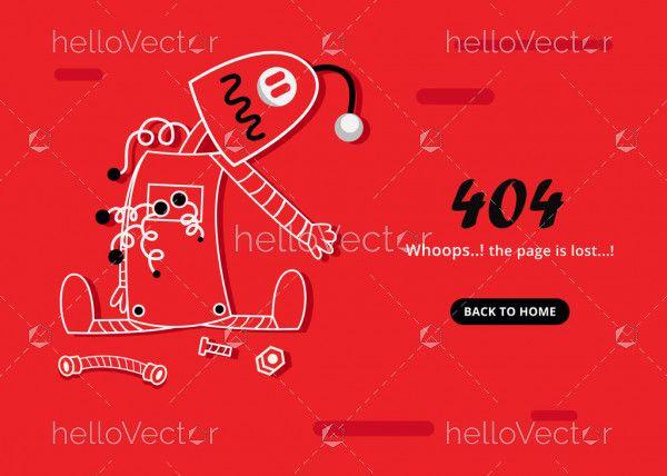 Red 404 Error Template
