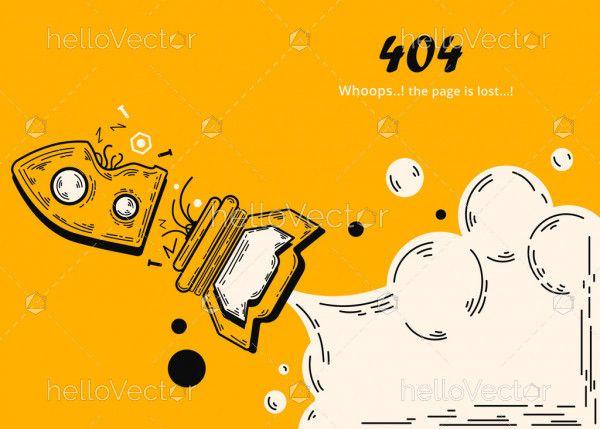 Yellow 404 Error Template